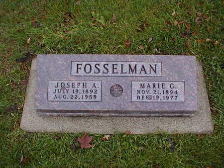 FOSSELMAN, MARIE G - Bremer County, Iowa | MARIE G FOSSELMAN