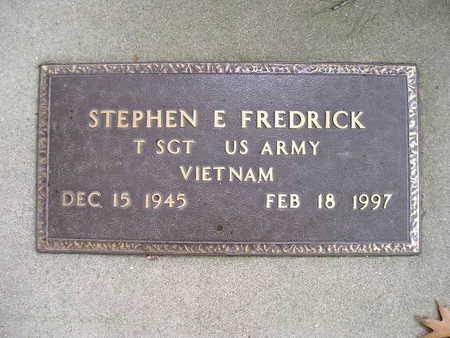 FREDRICK, STEPHEN E - Bremer County, Iowa | STEPHEN E FREDRICK