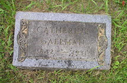 GALLMAN, CATHERINE - Bremer County, Iowa | CATHERINE GALLMAN