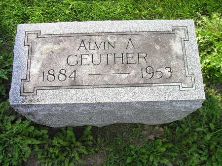 GEUTHER, ALVIN A - Bremer County, Iowa | ALVIN A GEUTHER