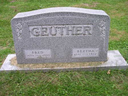 GEUTHER, BERTHA - Bremer County, Iowa | BERTHA GEUTHER