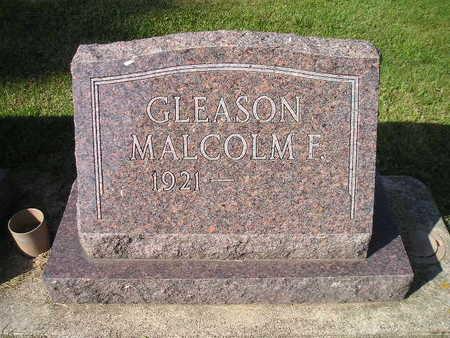 GLEASON, MALCOLM F - Bremer County, Iowa | MALCOLM F GLEASON