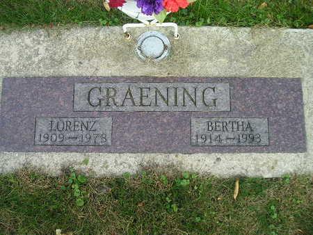 GRAENING, BERTHA - Bremer County, Iowa | BERTHA GRAENING