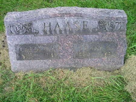 HAASE, FRANK G - Bremer County, Iowa | FRANK G HAASE