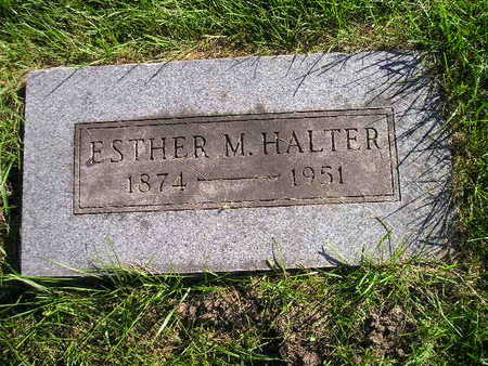 HALTER, ESTHER M - Bremer County, Iowa | ESTHER M HALTER