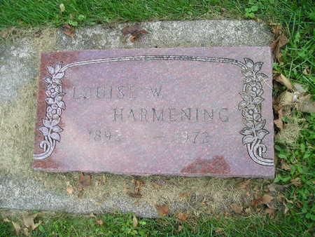 HARMENING, LOUISE W - Bremer County, Iowa | LOUISE W HARMENING