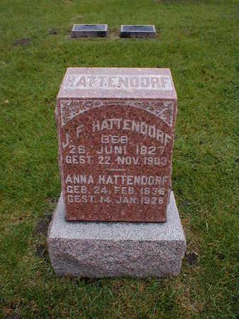 HATTENDORF, J F - Bremer County, Iowa | J F HATTENDORF