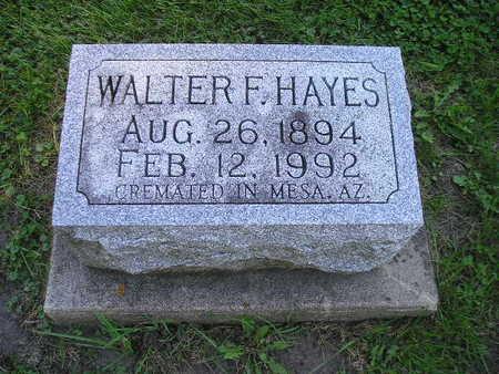 HAYES, WALTER F - Bremer County, Iowa | WALTER F HAYES