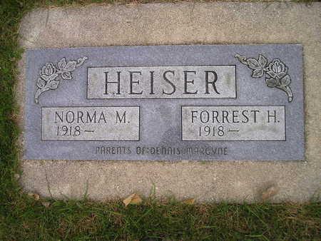 HEISER, FORREST H - Bremer County, Iowa | FORREST H HEISER