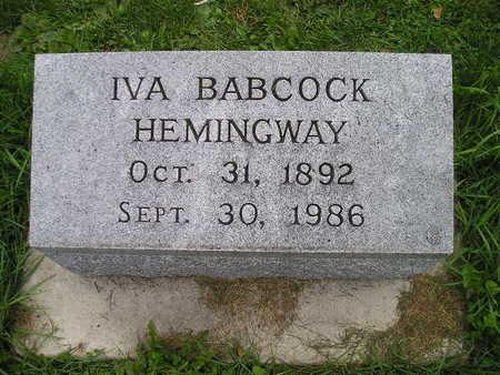 HEMINGWAY, IVA - Bremer County, Iowa | IVA HEMINGWAY