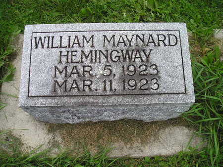 HEMINGWAY, WILLIAM MAYNARD - Bremer County, Iowa | WILLIAM MAYNARD HEMINGWAY