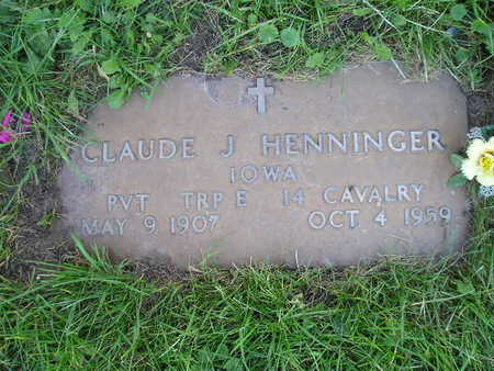 HENNINGER, CLAUDE J - Bremer County, Iowa | CLAUDE J HENNINGER