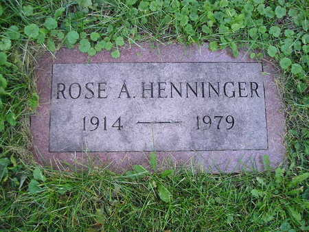 HENNINGER, ROSE A - Bremer County, Iowa | ROSE A HENNINGER