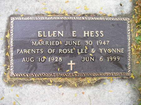 HESS, ELLEN E - Bremer County, Iowa | ELLEN E HESS