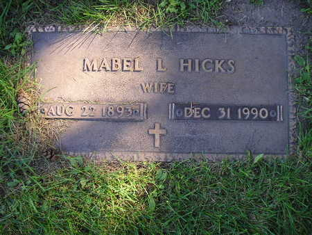 HICKS, MABEL L - Bremer County, Iowa | MABEL L HICKS