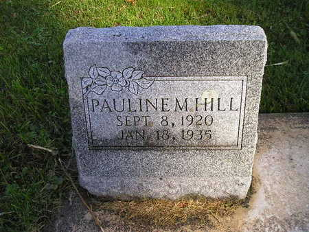 HILL, PAULINE M - Bremer County, Iowa | PAULINE M HILL
