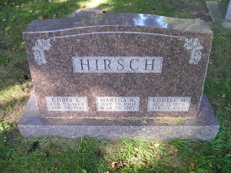 HIRSCH, CHRIS L - Bremer County, Iowa | CHRIS L HIRSCH