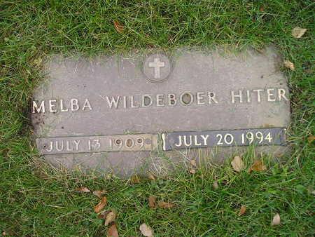WILDEBOER HITER, MELBA - Bremer County, Iowa | MELBA WILDEBOER HITER
