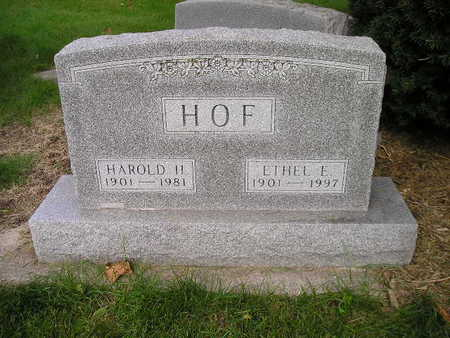 HOF, HAROLD H - Bremer County, Iowa | HAROLD H HOF