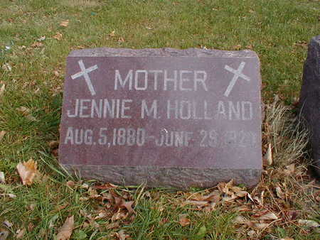 HOLLAND, JENNIE M - Bremer County, Iowa | JENNIE M HOLLAND