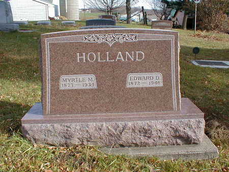 HOLLAND, EDWARD D - Bremer County, Iowa | EDWARD D HOLLAND