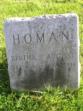 HOMAN, BERTHA - Bremer County, Iowa | BERTHA HOMAN