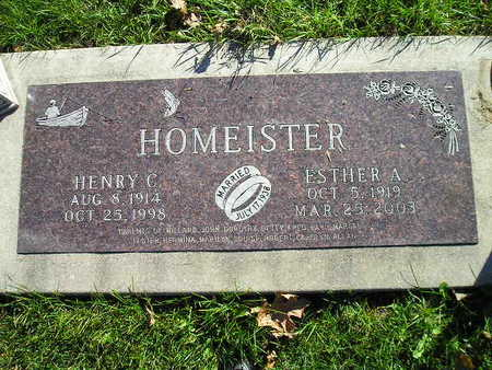 HOMEISTER, ESTHER A - Bremer County, Iowa | ESTHER A HOMEISTER