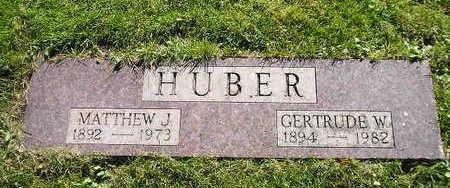 HUBER, GERTRUDE W - Bremer County, Iowa | GERTRUDE W HUBER
