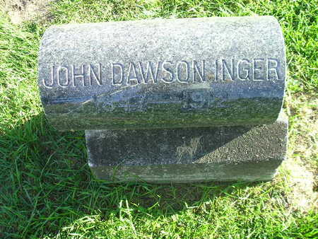 INGER, JOHN DAWSON - Bremer County, Iowa | JOHN DAWSON INGER