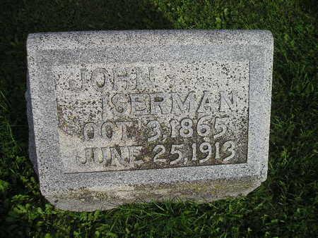 ISERMAN, JOHN - Bremer County, Iowa   JOHN ISERMAN
