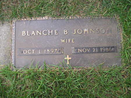 JOHNSON, BLANCHE B - Bremer County, Iowa | BLANCHE B JOHNSON