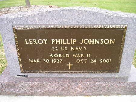JOHNSON, LEROY PHILLIP - Bremer County, Iowa   LEROY PHILLIP JOHNSON