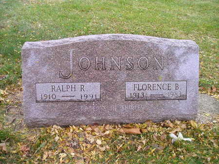 JOHNSON, FLORENCE B - Bremer County, Iowa | FLORENCE B JOHNSON