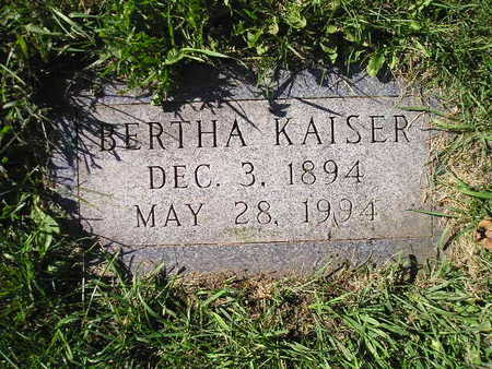 KAISER, BERTHA - Bremer County, Iowa | BERTHA KAISER