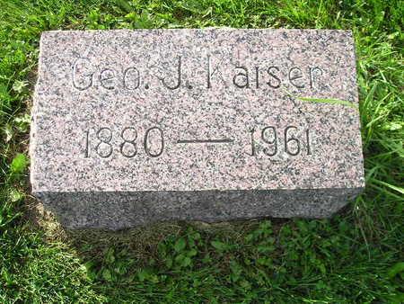 KAISER, GEO J - Bremer County, Iowa | GEO J KAISER