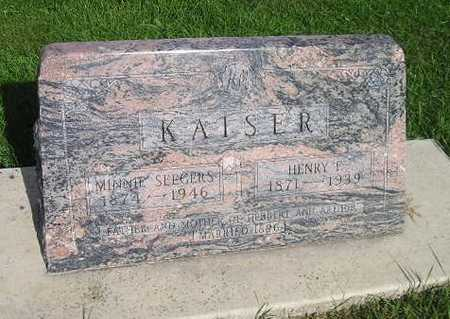 KAISER, MINNIE - Bremer County, Iowa | MINNIE KAISER