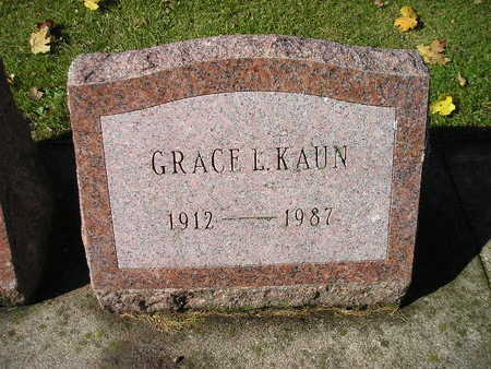 KAUN, GRACE L - Bremer County, Iowa | GRACE L KAUN