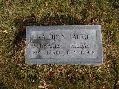 SCHWARTZ KILDAY, KATHRYN ALICE - Bremer County, Iowa | KATHRYN ALICE SCHWARTZ KILDAY