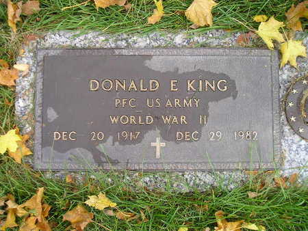 KING, DONALD E - Bremer County, Iowa | DONALD E KING