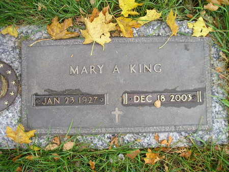 KING, MARY A - Bremer County, Iowa | MARY A KING