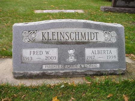 KLEINSCHMIDT, FRED W - Bremer County, Iowa | FRED W KLEINSCHMIDT