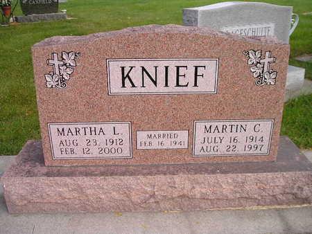 KNIEF, MARTHA L - Bremer County, Iowa | MARTHA L KNIEF