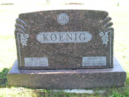 KOENIG, MARY - Bremer County, Iowa | MARY KOENIG