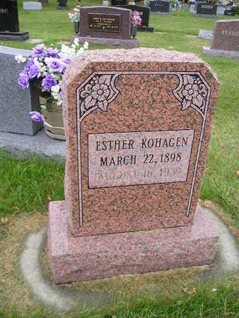 KOHAGEN, ESTHER - Bremer County, Iowa   ESTHER KOHAGEN