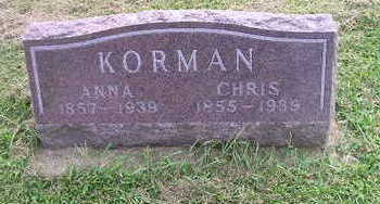 KORMAN, ANNA - Bremer County, Iowa | ANNA KORMAN
