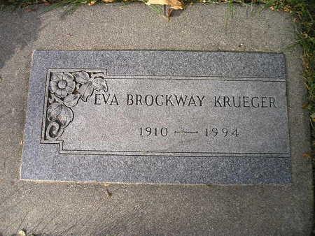 BROCKWAY KRUEGER, EVA - Bremer County, Iowa | EVA BROCKWAY KRUEGER