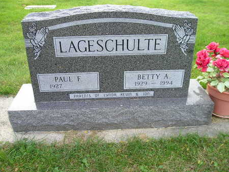 LAGESCHULTE, BETTY A - Bremer County, Iowa | BETTY A LAGESCHULTE