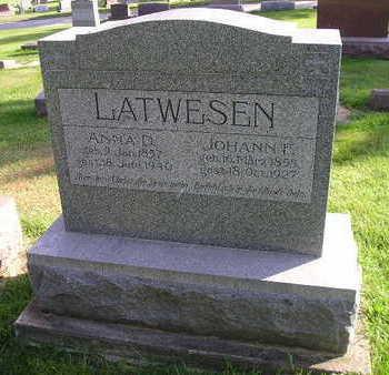 LATWESEN, JOHANN F - Bremer County, Iowa | JOHANN F LATWESEN