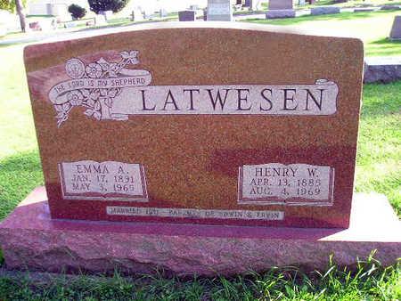 LATWESEN, EMMA A - Bremer County, Iowa | EMMA A LATWESEN