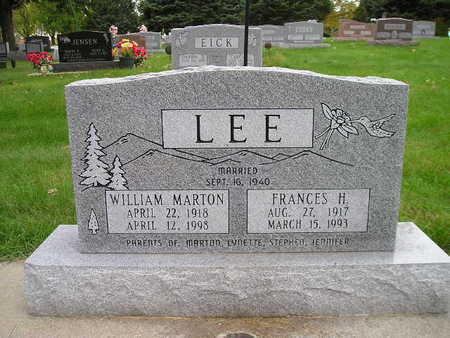 LEE, WILLIAM MARTON - Bremer County, Iowa | WILLIAM MARTON LEE
